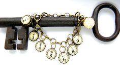 Typewriter Key Bracelet  Steampunk Style Antique by JustWearThese, $25.00