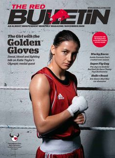 Katie Taylor Boxer, cover for The Red Bulletin magazine