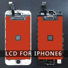 Remplacement pour Iphone 6 LCD Affichage Écran Partie avec Tactile Digitizer Assemblée Noir et Blanc 4.7 pouce 100% Bonne Quliay