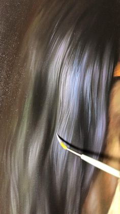 Sketch Painting, Painting Process, Painting Videos, Hair Painting, Painting Tips, Colorful Drawings, Art Drawings, Painting People, Realistic Paintings