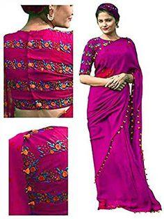 c1e24b23cf Lace Border, Wedding Sari, Amazon, Saree, Collection, Silk, Purple, Sari,  Amazons. Mira Impex