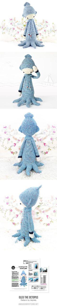 Found at Amigurumipatterns.net, Oleg the Octopus