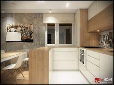 wizualizacje kuchni z salonem 20m - Szukaj w Google Kitchen Cabinet Design, Kitchen Cabinets, Home Kitchens, Beautiful Homes, Cool Designs, Provence, House Design, Interior Design, House Styles
