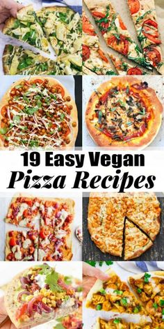 definitely don't have to miss out on pizza! These 19 vegan pizza recipes . Vegans definitely don't have to miss out on pizza! These 19 vegan pizza recipes .Vegans definitely don't have to miss out on pizza! These 19 vegan pizza recipes . Vegan Pizza Recipe, Vegan Keto, Vegan Dinner Recipes, Vegan Foods, Vegan Dishes, Vegan Vegetarian, Whole Food Recipes, Vegetarian Recipes, Paleo
