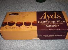Ayds diet candy- I never knew anyone who bought these, but I remember seeing them at the Woolworth's.