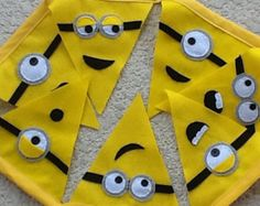 Funny minions themed Felt party Banner