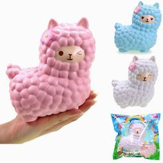 Vlampo Toysweety Squishy Jumbo Alpaca 17cm Slow Rising Original Packaging Collection Gift Decor Toy