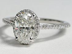 oval cut halo diamond engagement ring from blue nile