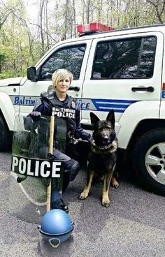 K9 Lucian and his handler protecting Baltimore.