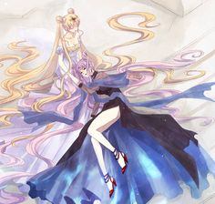 Sailor Moon - Neo Queen Serenity & Black Lady - originally small lady but she is possessed by the negaverse-