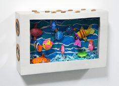 Cardboard fish aquarium - I'm defo doing this when Edwin is old enough!