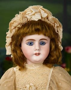 """""""I Only Wanted to Wonder"""" - August 1, 2017: 366 Early German Bisque Child, Model 979, with Stunning Blue Eyes, by Simon and Halbig"""