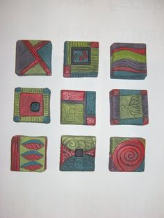 "Kristy Jo Beber - ""Small Squares""  Stoneware and pottery in Fort Wayne  www.kristyjobeber.com"