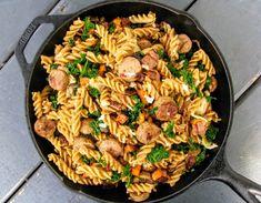 Chicken and sweet potato pasta - The Flexitarian Runner