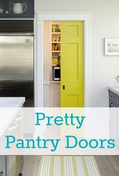 So many pretty pantry doors. Why should the pantry be ignored and ugly?!? Great ideas!