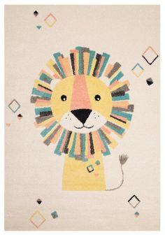 Zala Living Vini Beige / geel - New Fashion Design Lion Wall Art, Lion Art, Nursery Wall Art, Kind Und Kegel, Boy Room Paint, Dark Carpet, Baby Shower Niño, Yellow Rug, Room Carpet