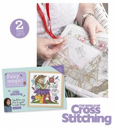 TWO FREE GIFTS – handy chart magnifier, plus fab fairy chart… With the help of our magnifier, with stitch gauge and ribbon to keep it close-at-hand, your stitching will be a breeze. Free with issue 219 of The World of Cross Stitching magazine