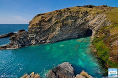 Beautiful view at Tintagel, north Cornwall, UK.  One of our visitors' favourite places to visit.  Legendary birthplace of King Arthur.  Image by Bude & north Cornwall on facebook.