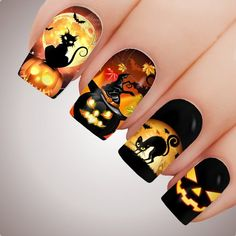 Holloween Nails, Halloween Acrylic Nails, Cute Halloween Nails, Halloween Nail Designs, Best Acrylic Nails, Crazy Nail Art, Crazy Nails, Dope Nails, Colorful Nail Designs