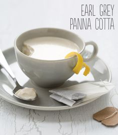 1 packet unflavored gelatin  2 cups half-and-half  1/3 cup granulated sugar  2 bags Earl Grey tea  Peel from 1 lemon*