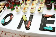 Car themed party Birthday Party Ideas | Photo 3 of 13 | Catch My Party