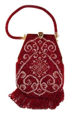 Angie ( Crochet Beaded Purse Pattern ) PDF Download  via Etsy - beadwoven purse