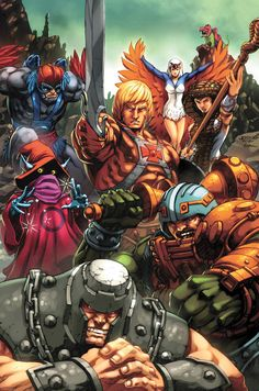 Heroic Warriors by Joe Ng and Espen Grundetjern  He-Man Masters of the Universe 30th Anniversary