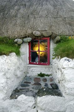Cottage on Island of Tiree, Inner Hebrides, Scotland England, Outer Hebrides, Scotland Travel, Scotland Uk, Windows, Scottish Highlands, Interior Exterior, British Isles, Architecture