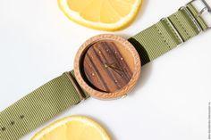 Купить Наручные часы из дерева (платан) - комбинированный, платан, палисандр, часы, часы ручной работы