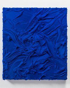 Jason Martin, The quick and the dead, 2014 Mixed media on aluminium (Ultramarine blue)
