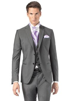 costume de mariage 3 pices gris fonc trouvable en boutique jean de sey paris - Costume Gris Anthracite Mariage