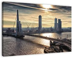 Rotterdam Skyline in the morning van Rob van der Teen.