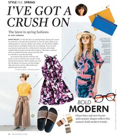 SB Seasons Spring 2015- Style File by Judy Foreman #press #editorial #springtrends