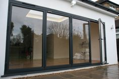 aïr bifold doors in RAL Finished with matching handle Interior And Exterior, Colorful Interiors, Windows, House Exterior, Bifold Doors, Modern Windows, Glass Bifold Doors, Modern House Exterior, Window Frame Colours