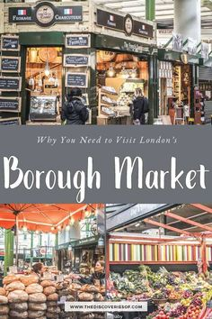 OMG Borough Market should be at the top of your list of places to visit in London. Packed with places to eat and delicious food - here's what you need to know before you go. London What To See, Things To Do In London, London Places To Eat, London Tours, London Travel, Travel Europe, Scotland Food, Highlands Scotland, Skye Scotland