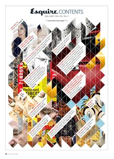 Great contents page by Erin Jang #Layout #Design #Magazine #Editorial