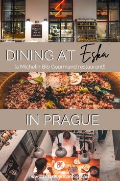 Have you eaten at Eska in Prague? If not, add this Michelin Bib Gourmand restaurant to your list! Eska has delicious food and a trendy ambience. Visit Prague, Prague Travel, Restaurant Offers, Foodie Travel, Bakery, Yummy Food, Dining, Eat, Ethnic Recipes
