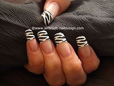 Airbrush french motive with zebra