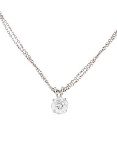 14K Diamond Solitaire Pendant Necklace                                                                                                                                                                                 More