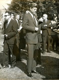 Oct. 26, 1963: Amherst - President John F. Kennedy at the groundbreaking for Frost Library at Amherst College.