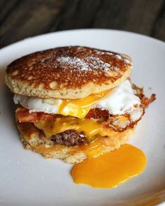 Sliders, The Little Breakfast Burgers of Your Dreams Yes, everything can be a breakfast sandwich.Yes, everything can be a breakfast sandwich. Breakfast Burger, What's For Breakfast, Breakfast Dishes, Breakfast Recipes, Sausage Breakfast, Breakfast Sandwiches, Pancake Breakfast, Breakfast Slider, Camping Breakfast