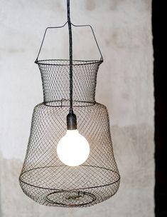 fishing net lamp