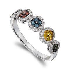 HJ Namdar 1/2ctw Multi-Color Diamond Band