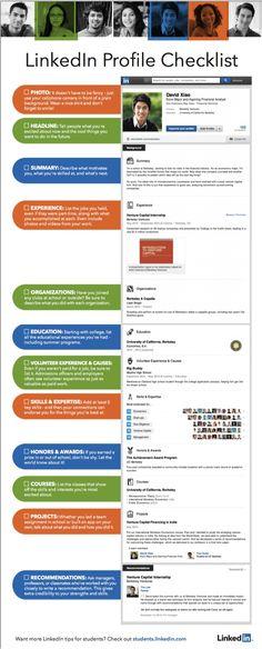 Checklist LinkedIn Profiel - Infographic