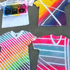 Spray paint and duct tape - not just for T-shirts... check this site out, fun. Could be fun for summer goodness!