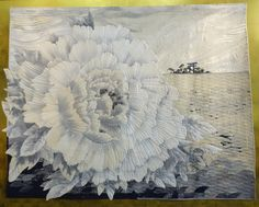 2017 tokyo quilt festival: part four :: Okan Arts Tokiko Yanazawa-Grand Prix Place Textile Fiber Art, Textile Artists, Quilt Stitching, Applique Quilts, Fabric Painting, Fabric Art, International Quilt Festival, Embroidery On Clothes, American Quilt