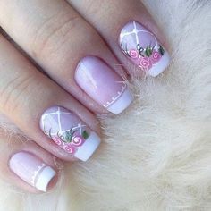 Uñas Nail Spa, Manicure And Pedicure, Baby Bloomer Nails, Happy Nails, Stylish Nails, Love Nails, Nails Inspiration, Beauty Nails, Nail Designs