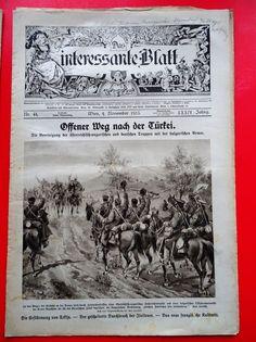 Militaria k.u.k. Zeitschrift Magazine 1915 Weg nach der Türkei Bulgarische Armee Militaria, History, Cover, Books, Ebay, Army, Magazines, Livros, Livres