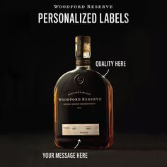 Give the gift everyone wants to see Dad open. Order your Woodford Reserve personalized label now.