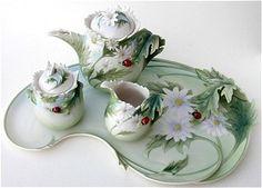 Franz Porcelain Lady Bug Tea Set @Liz Mester Mester Mester Mester Mester Jurmanovich  I need this!!!